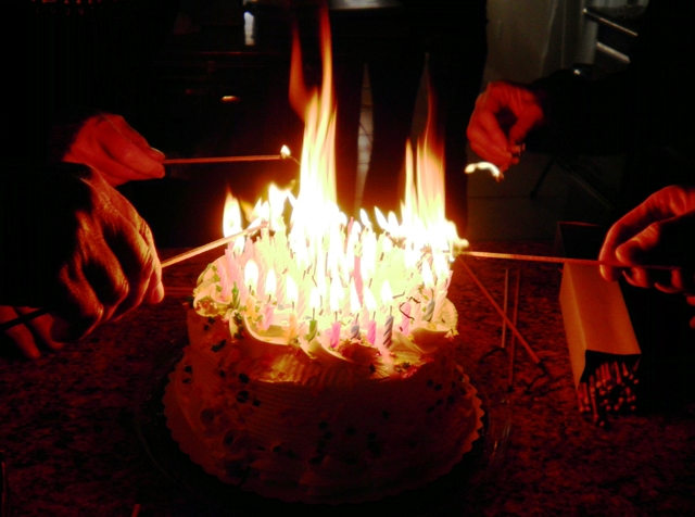 Images Birthday Cake On Fire : 96 Candlepower   Don t Try This Without a Fire ...